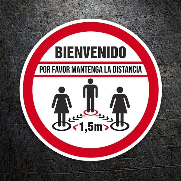 Car & Motorbike Stickers: Covid19 protection welcome in Spanish