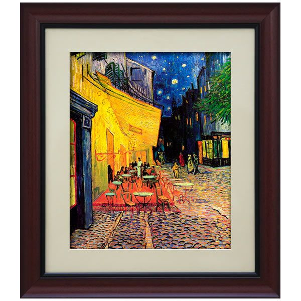 Adhesive Vinyl Poster Picture Terrace Of Coffee At Night