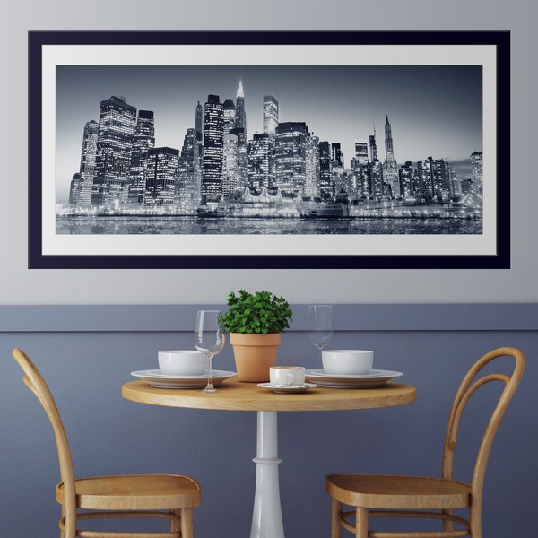 Wall Stickers: Blue Manhattan