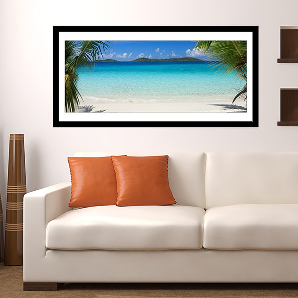 Wall Stickers: Picture Caribbean Beach