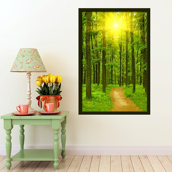 Wall Stickers: Picture Road in the forest