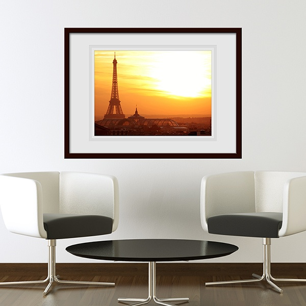 Wall Stickers: Picture Eiffel Tower dawn