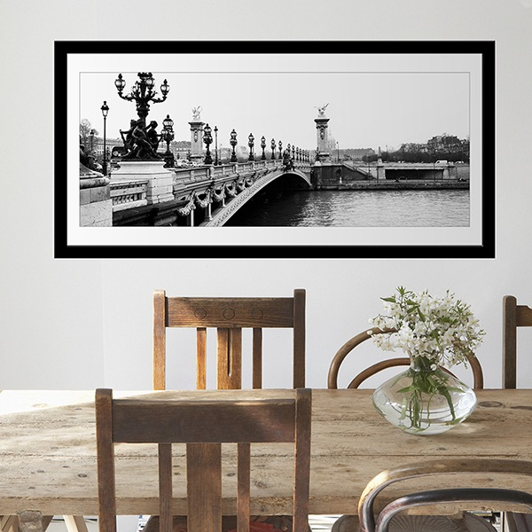 Wall Stickers: Picture Seine Bridge, Paris
