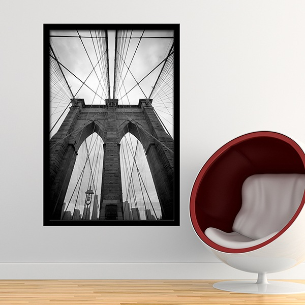 Wall Stickers: Brooklyn Bridge Frame