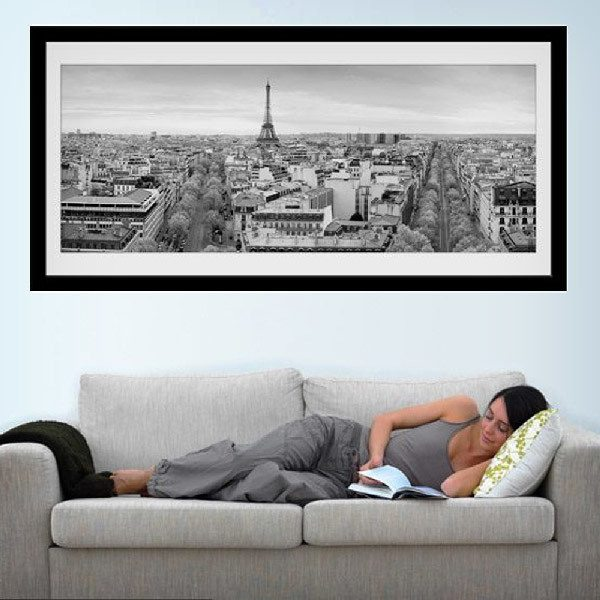Wall Stickers: Picture Skyline of Paris