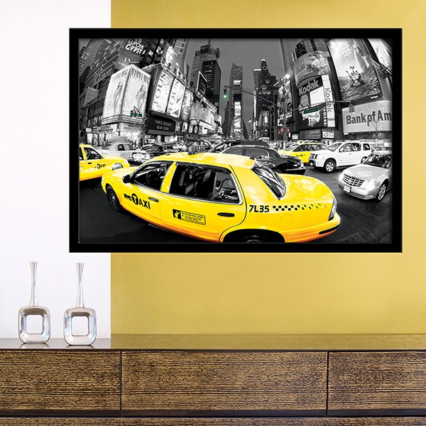 Wall Stickers: Picture Taxi in Times Square