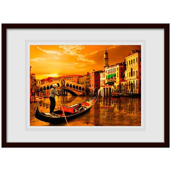 Wall Stickers: Picture Gondola in Venice