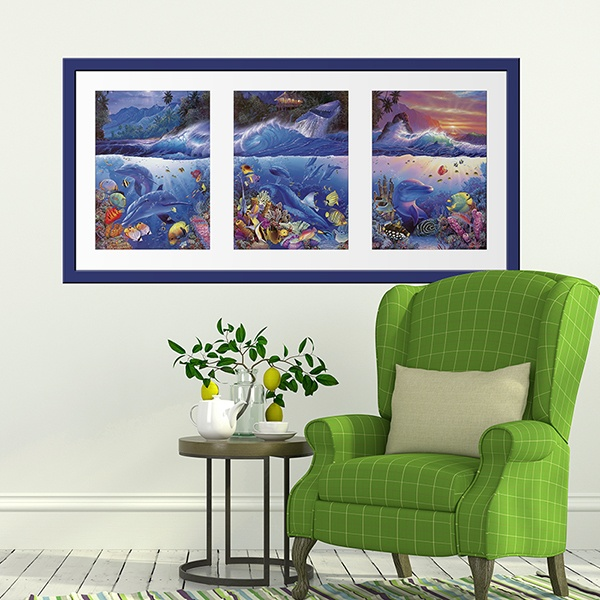 Wall Stickers: Picture Triptych seabed