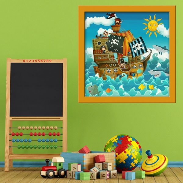 Stickers for Kids: Pirate Ship