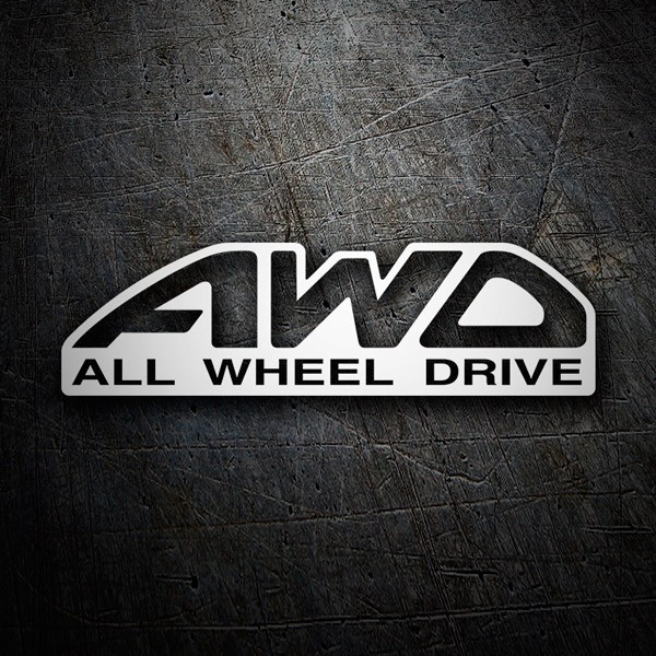 Car & Motorbike Stickers: All wheel drive