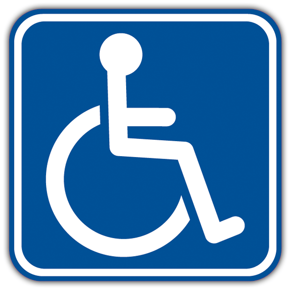 Car & Motorbike Stickers: Signal handicapped