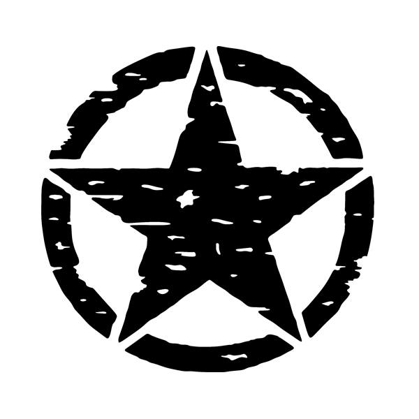 Car & Motorbike Stickers: US Army Star 4x4