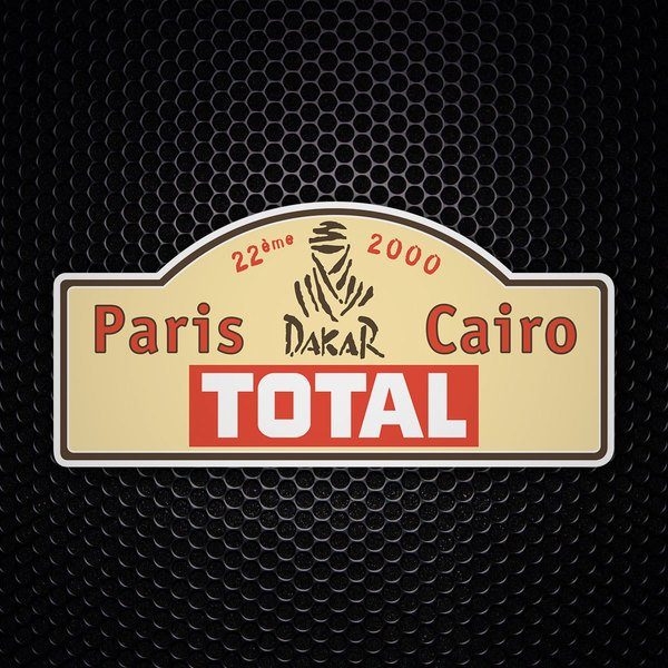 Car & Motorbike Stickers: Paris Dakar 2000
