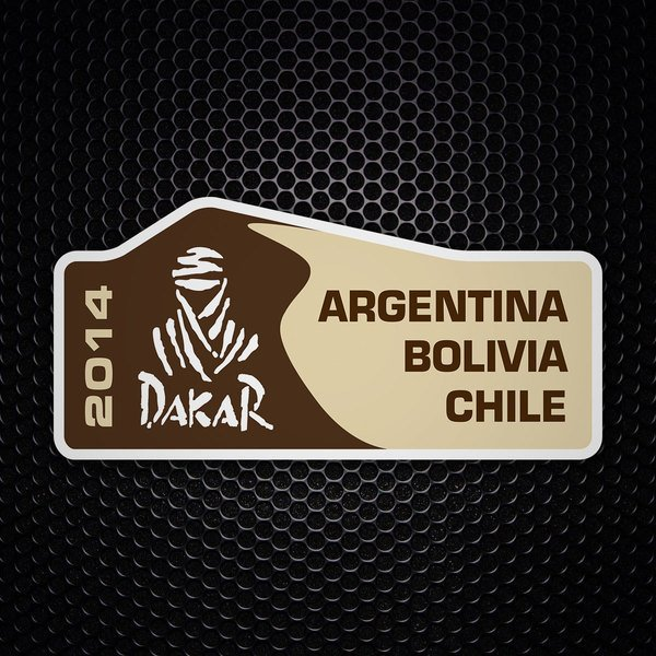Car & Motorbike Stickers: Dakar 2014