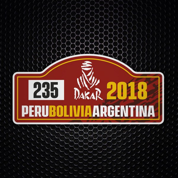 Car & Motorbike Stickers: Dakar 2018 - Custom number