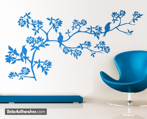 Wall Stickers: Branch of a tree in spring