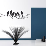 Wall Stickers: 6 Birds on a branch 2