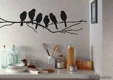 Wall Stickers: 6 Birds on a branch 3