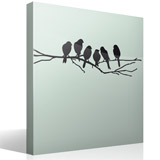 Wall Stickers: 6 Birds on a branch 6