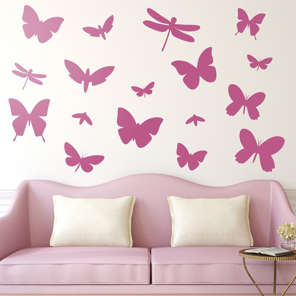Wall Stickers: Wall sticker Kit 17 Insects