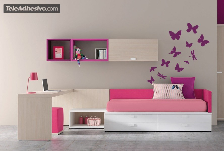 Wall Stickers: Kit 17 Insects