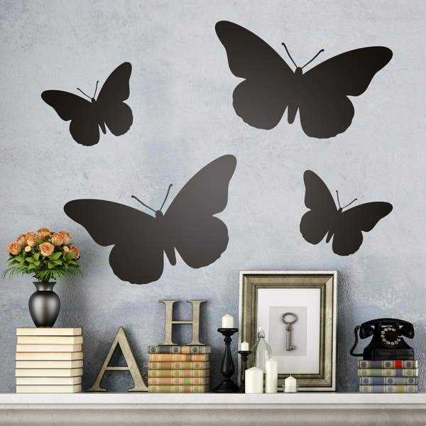 Wall Stickers: Kit 4 Butterflies