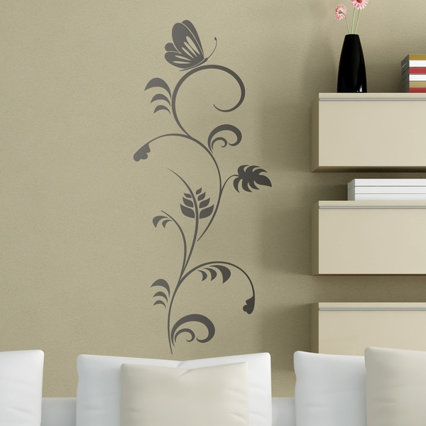Wall Stickers: Butterfly on Flower