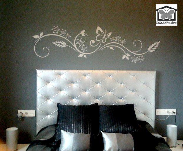 Vinilos dormitorios matrimonio vinilo decorativo cabecero for Vinilos decorativos habitacion matrimonio