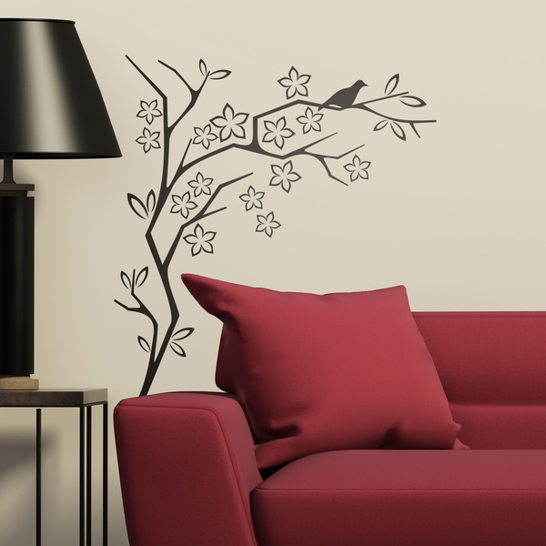 Wall Stickers: Floral Columbidae
