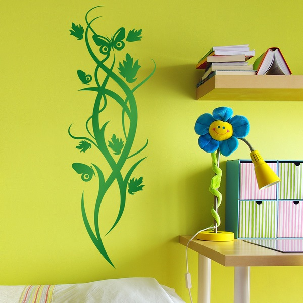 Wall Stickers: Vertical Floral