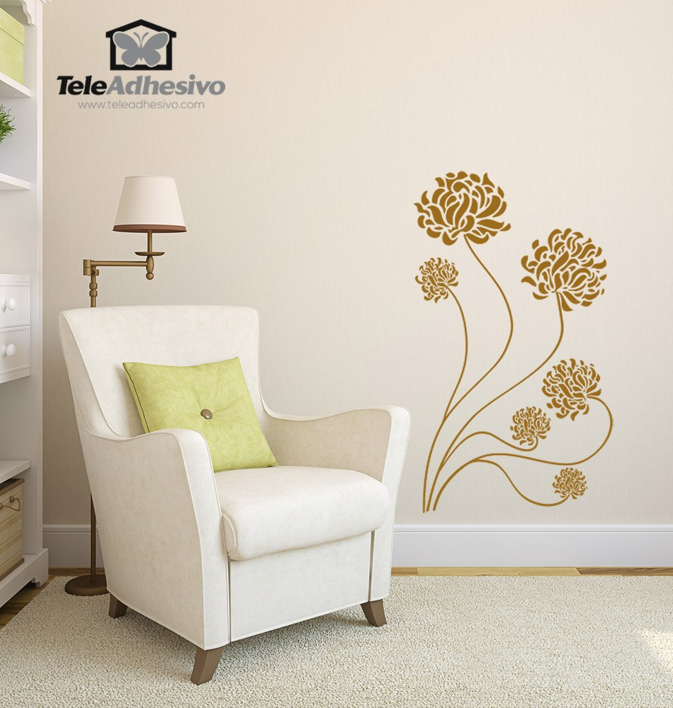 Wall Stickers: Adonis floral