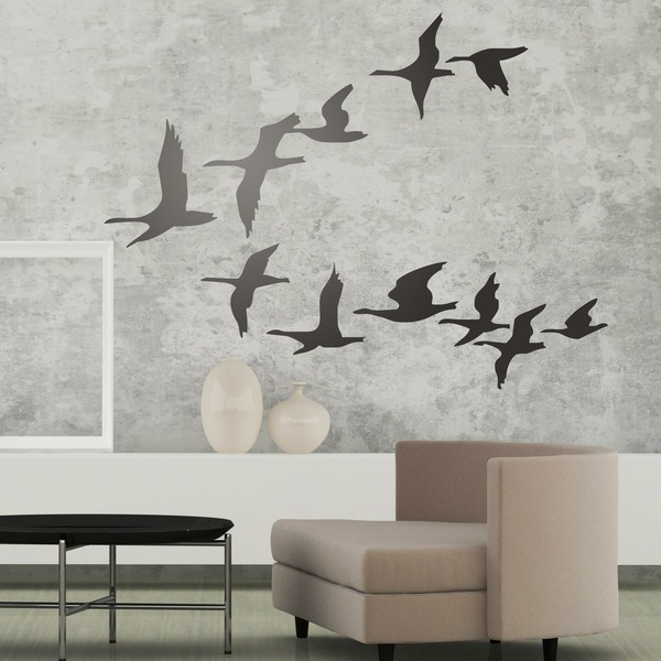 Wall Stickers: Flock of pelicans