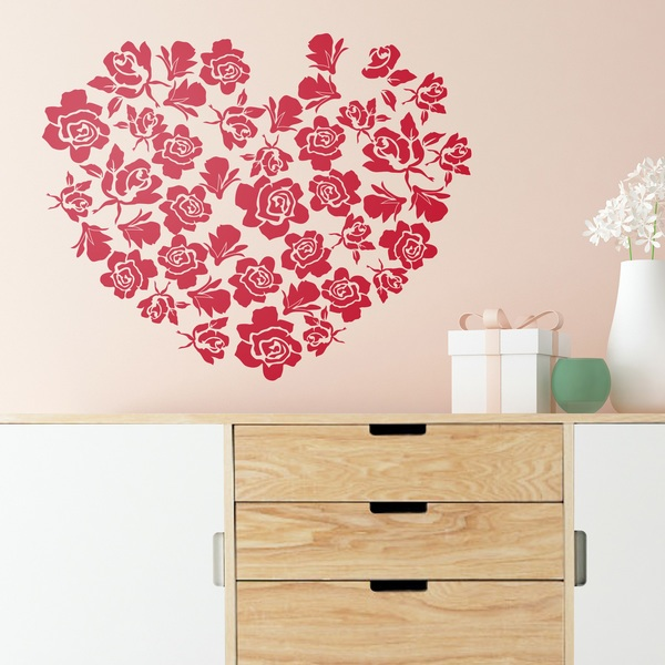 Wall Stickers: Heart of roses