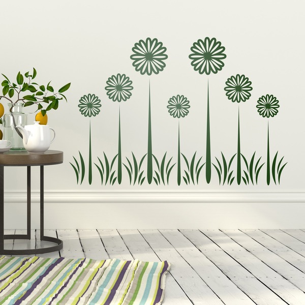 Wall Stickers: Floral Sunflowers