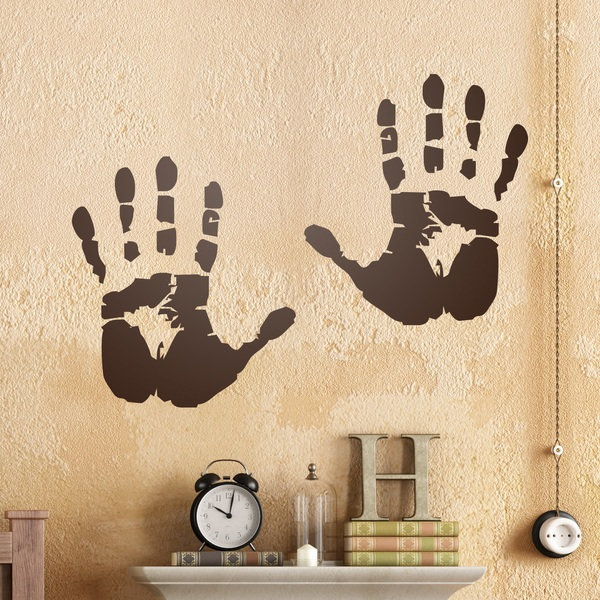 Wall Stickers: Silhouette hands