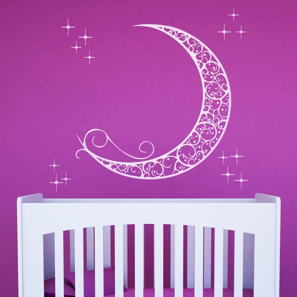 Wall Stickers: Ornamental Moon
