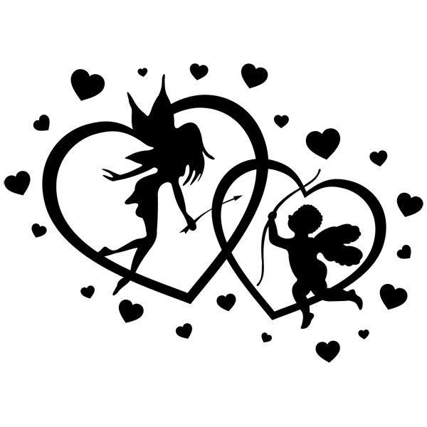 Wall Stickers: Hearts Fairy and Cupid