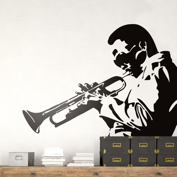 Wall Stickers: Miles Davis, Trumpeter Jazz
