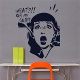 Wall Stickers: Scared girl 2