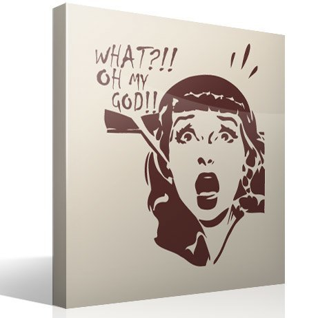 Wall Stickers: Scared girl