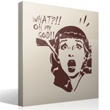 Wall Stickers: Scared girl 5