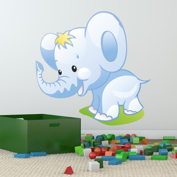 Stickers for Kids: Elephant puppy