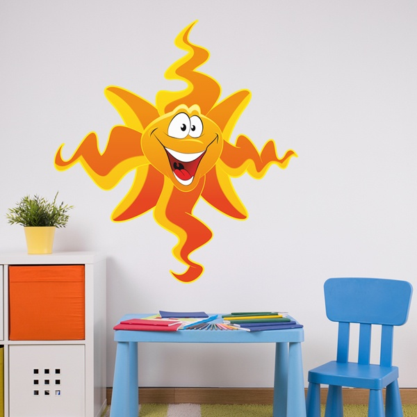 Stickers for Kids: Smiling sun