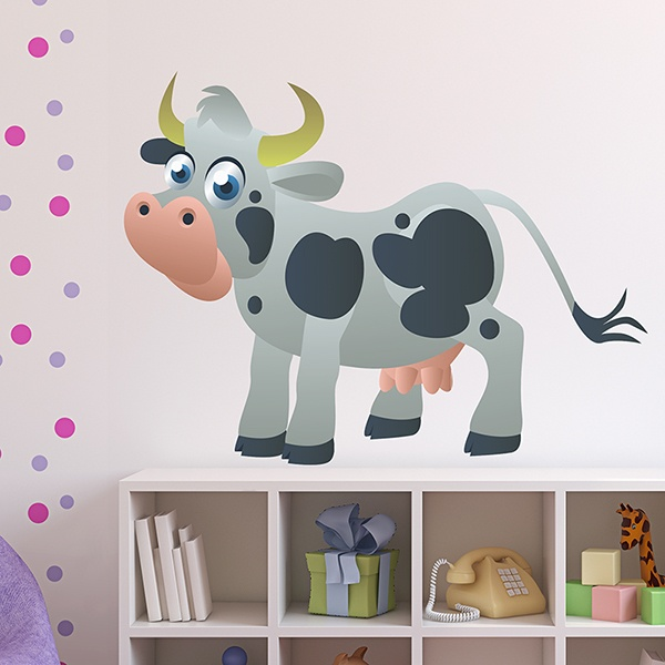 Stickers for Kids: Children's cow