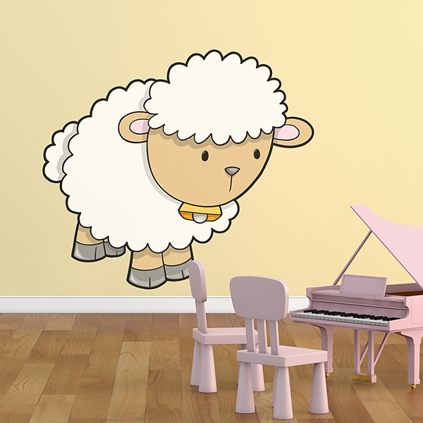 Stickers for Kids: Sheep with cowbell