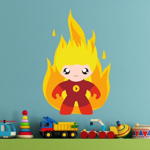 Stickers for Kids: Human Torch Child