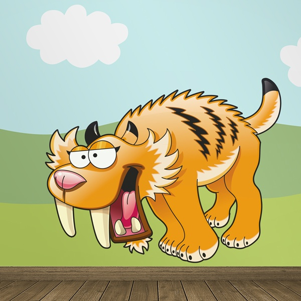 Stickers for Kids: Sabertooth