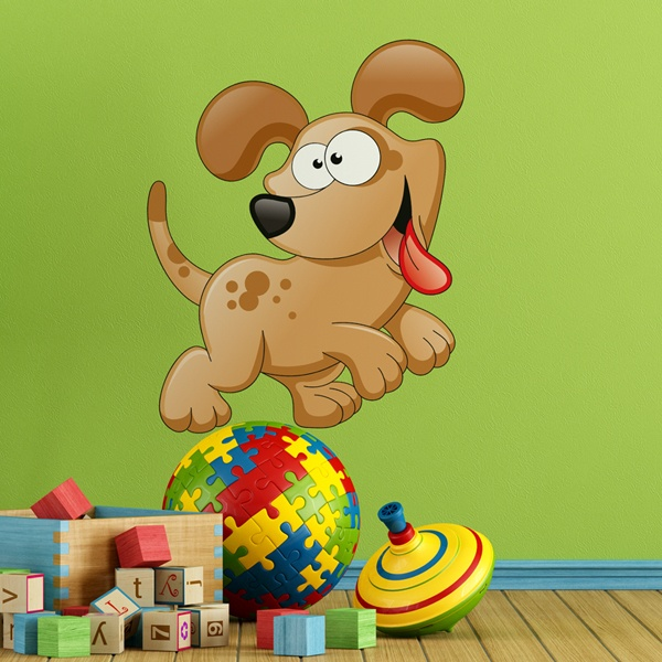 Stickers for Kids: Playful dog puppy
