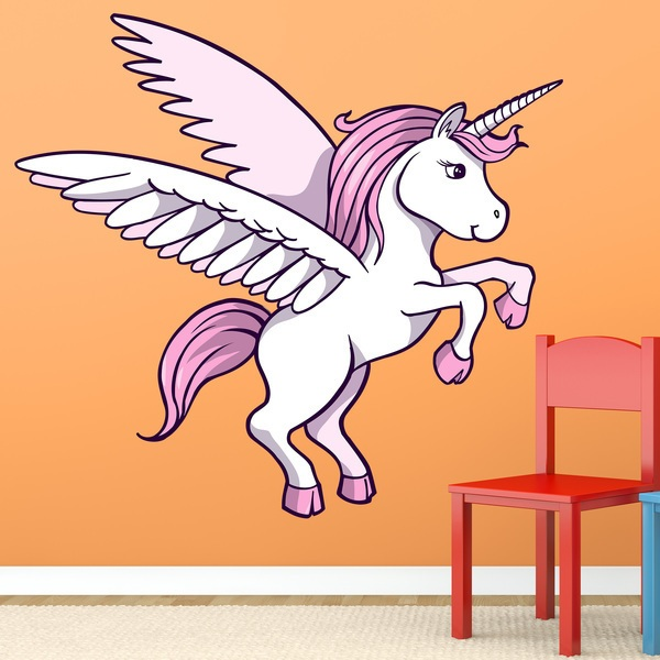 Wall Stickers: Unicorn on two legs
