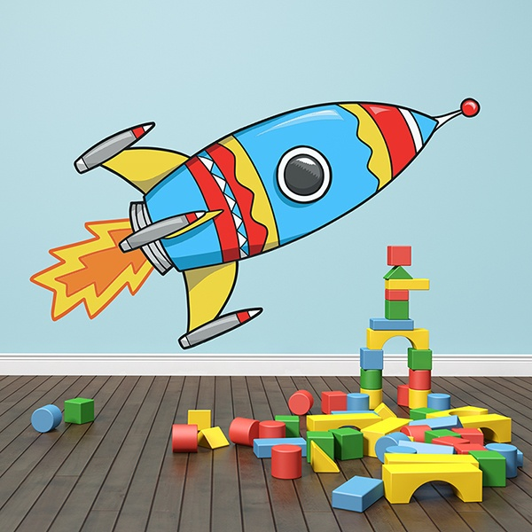 Stickers for Kids: Rocket Taking Off